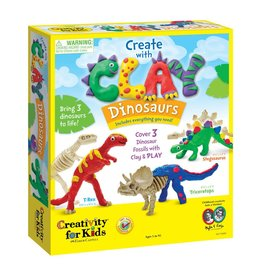 Creativity for Kids Craft Kit Create with Clay Dinosaurs