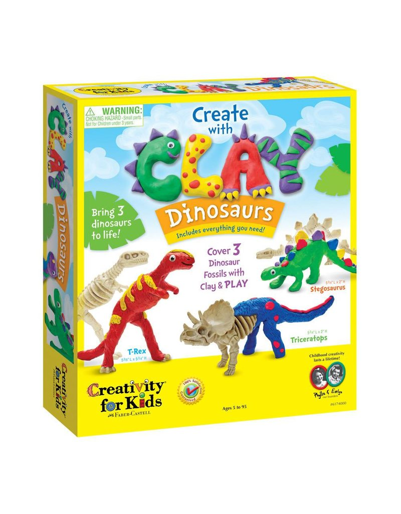 Creativity for kids Create with Clay Dinosaurs