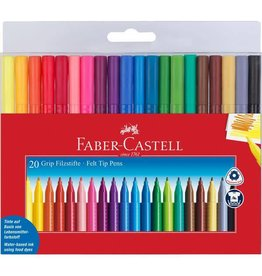 Faber-Castell Art Supplies - 20 Grip Color Markers
