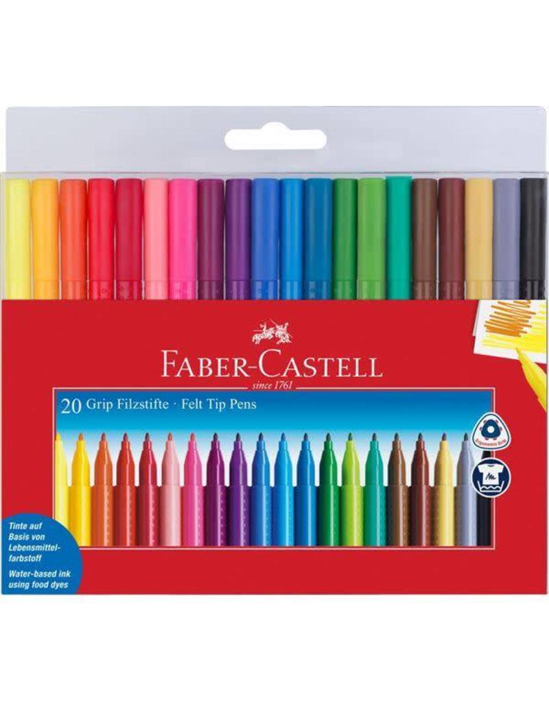 Faber-Castel Faber-Castell 20 Grip Color Markers