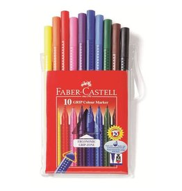 Faber-Castell Art Supplies - 10 Grip Color Markers