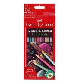 Faber-Castell Art Supplies - 12 Metallic Colored EcoPencils