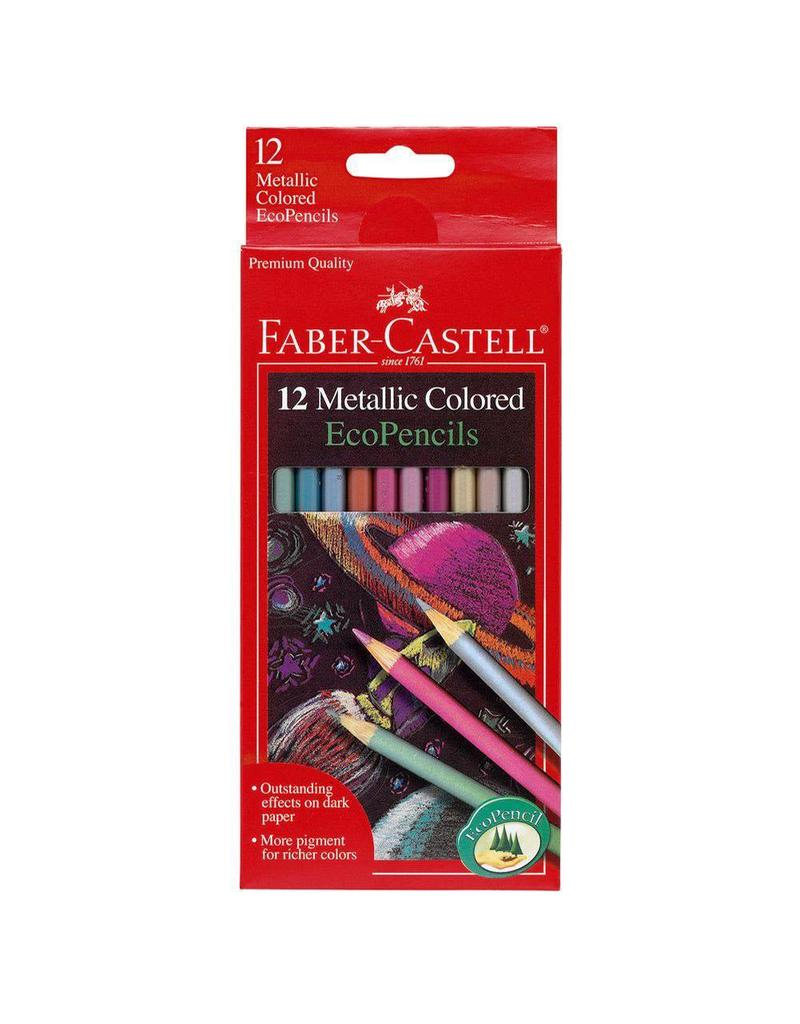 Faber-Castel Faber-Castell 12 Metallic Colored EcoPencils
