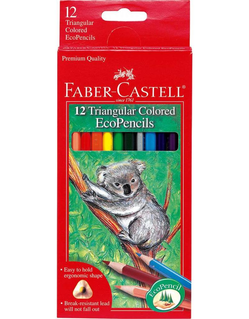 Faber-Castel Faber-Castell 12 Triangular Colored EcoPencils
