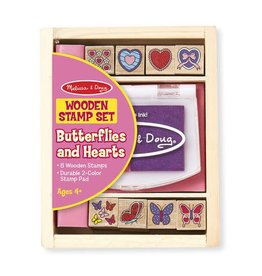 Melissa & Doug Butterflies and Hearts Stamp Set