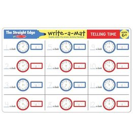 Melissa & Doug Telling Time Write-A-Mat
