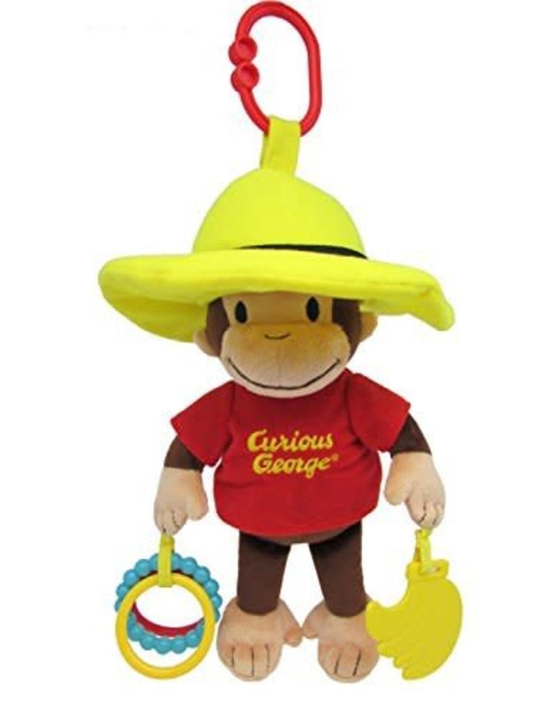 "Kids Preferred Baby Plush Curious George Developmental Activity Toy 11.5"""