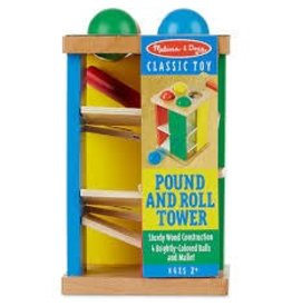Melissa & Doug Wooden Pound and Roll Tower