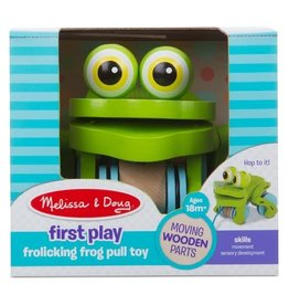 Melissa & Doug Baby First Play Frolicking Frog Pull Toy