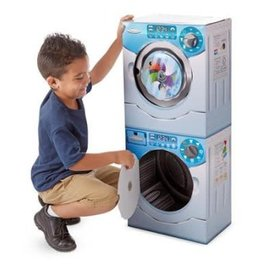 Melissa & Doug Cardboard Structure Washer/Dryer Combo