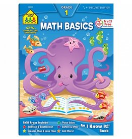 School Zone Workbook - Math Basics - Grade 1