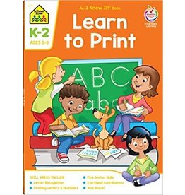 School Zone Workbook - Learn to Print - Grade K-2