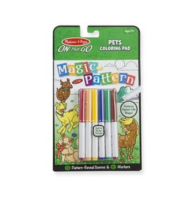 Melissa & Doug On-the-Go Magic Pattern - Pets Coloring Pad