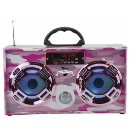 Wireless Express Mini Boom Box Pink Camo