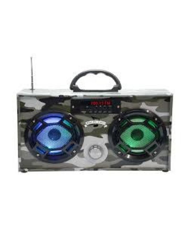 Wireless Express Mini Boom Box Green Camo
