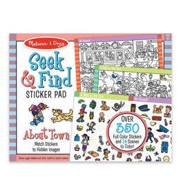 Melissa & Doug Sticker Pad - Seek and Find Around Town