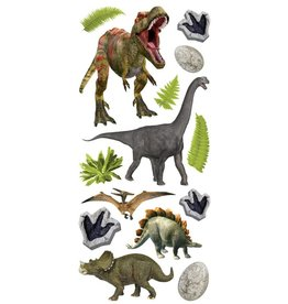 Paper House Production Dinosaurs Puffy Stickers