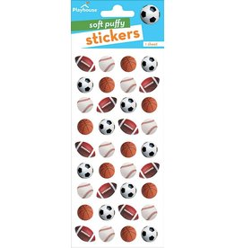 Paper House Production Mini Mixed Sports Balls Puffy Stickers