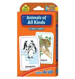 School Zone Flash Cards - Animals of All Kinds