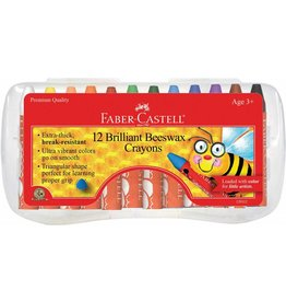Faber-Castel 12ct Brilliant Beeswax Crayons in Storage Case