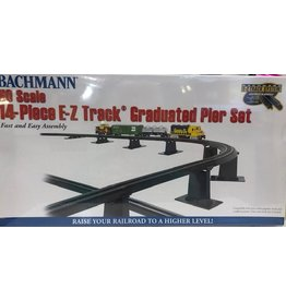 Hobbies Unlimited Bachman No Scale 14-piece E-Z Track Graduated Pier Set