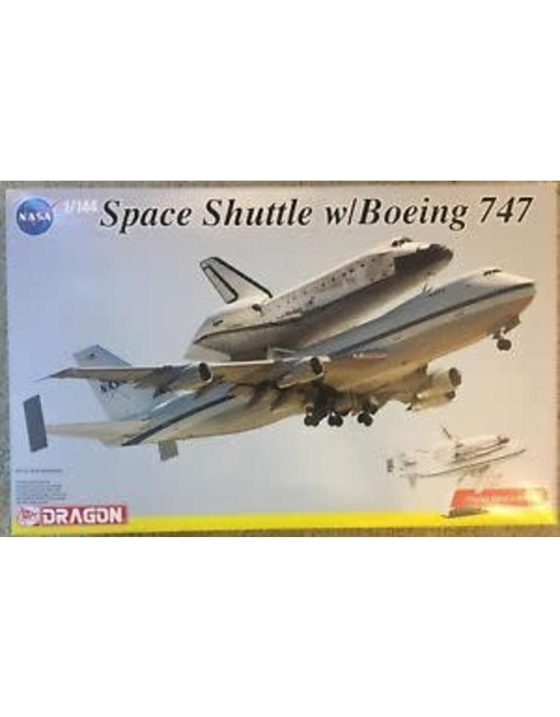 Dragon 1/144 Scale Space Shuttle w/Boeing 747 (Display Stand Included)