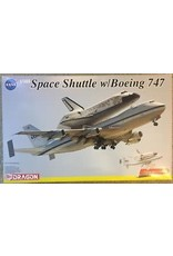 Dragon Hobby Model Space Shuttle - 1:144 Scale Space Shuttle w/Boeing 747 (Display Stand Included)