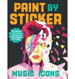 Workman Publishing Paint by Stickers - Music Icons