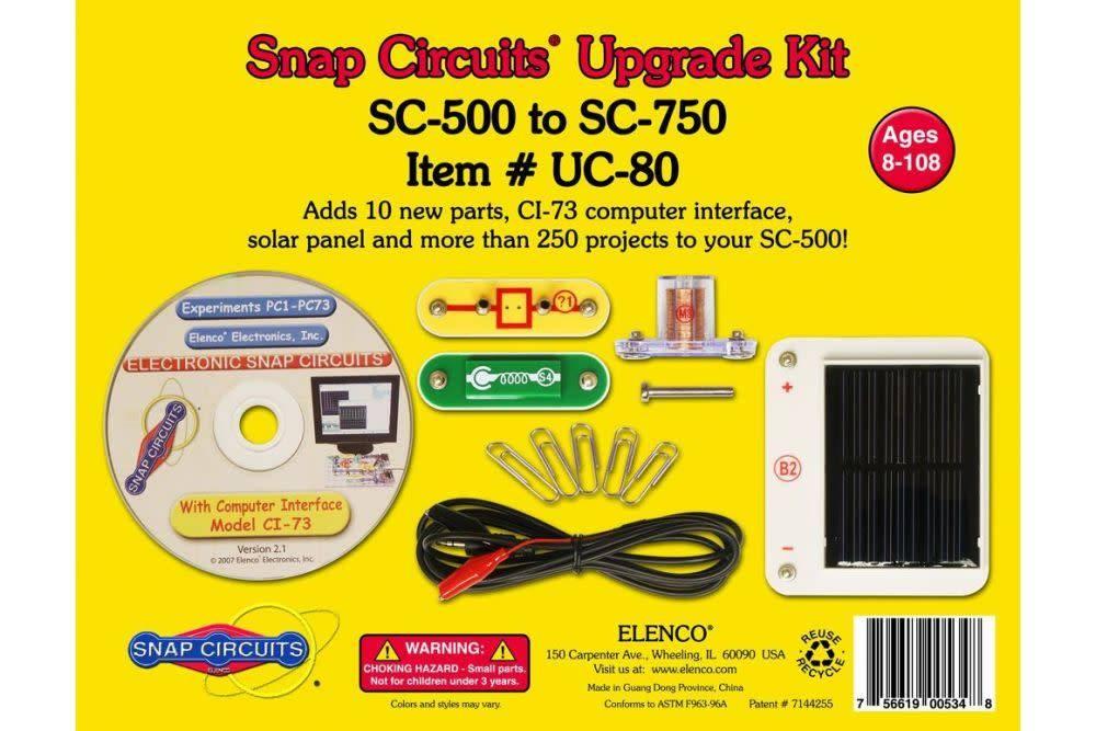Elenco Snap Circuits Upgrade Kit Sc 500 To Sc 750 Pow