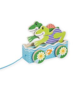 Melissa & Doug Baby First Play Friendly Frogs Pull Toy