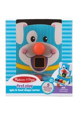 Melissa & Doug Baby First Play Spin & Feed Shape Sorter