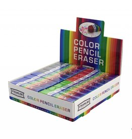 Streamline Color Pencil Eraser 4 Assorted