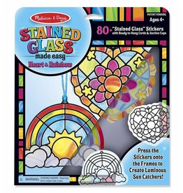 Melissa & Doug Craft Kit Stained Glass Made Easy - Rainbow & Hearts Ornaments