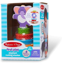 Melissa & Doug Baby First Play Elephant Rocking Stacker