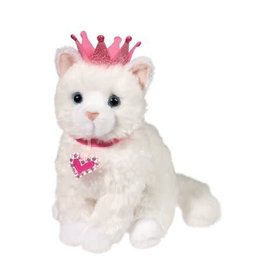 Douglas Plush Duchess White Cat W/Crown