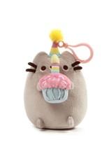 Gund Pusheen Snackable Clip Birthday Cupcake Plush