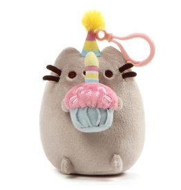 Gund Pusheen Snackable Clip Birthday Cupcake Plush