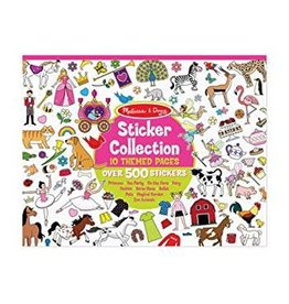 Melissa & Doug Sticker Collection Pad - Princess, Magical Garden, Ballet, Zoo Animals, & More (Pink)