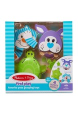 Melissa & Doug Baby First Play Favorite Pets Grasping Toys
