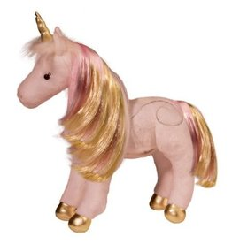 Douglas Plush Astra Pink/Gold Unicorn (Light/Sound)