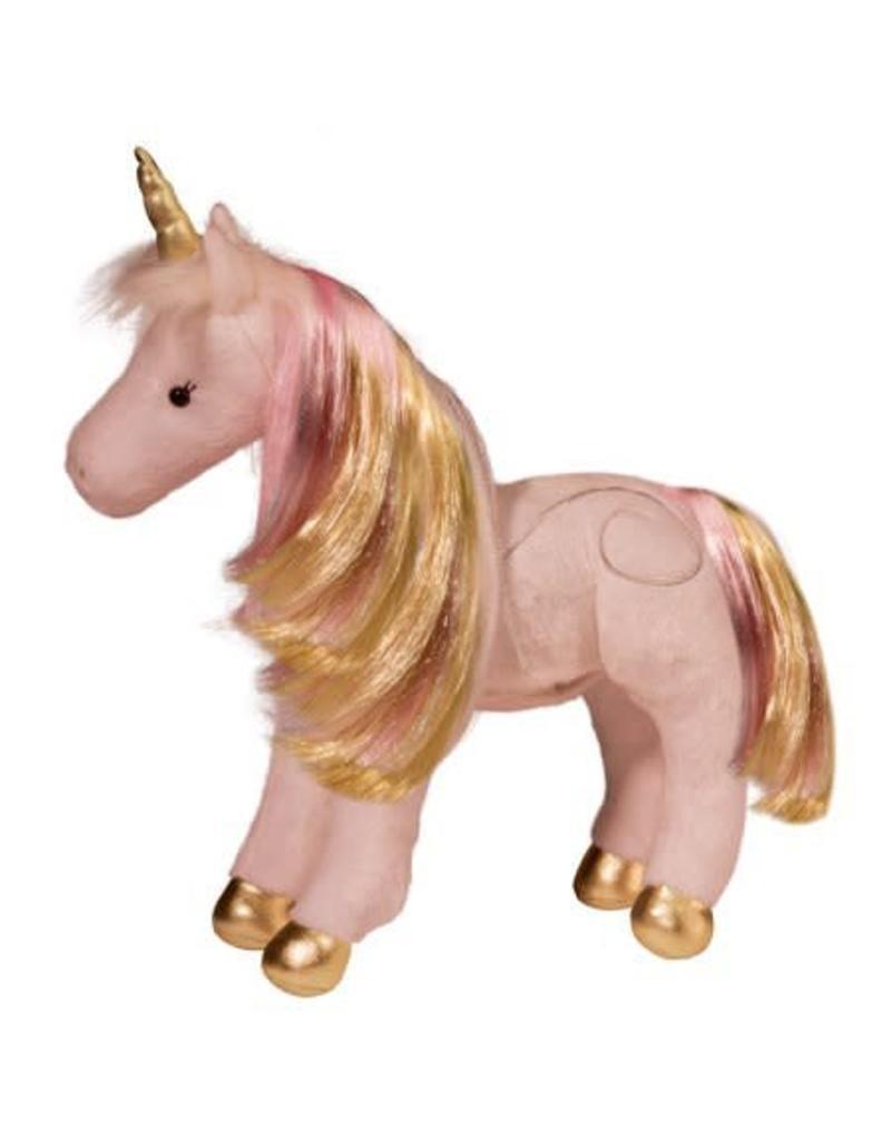 Douglas Plush Astra Pink/Gold Unicorn (Light/Sound)