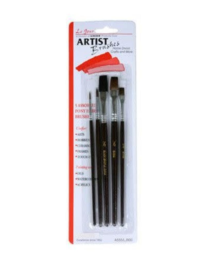 Linzer Assorted Five Linzer Artist Brushes