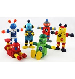 Key Craft Wood Flexi Robot Assorted