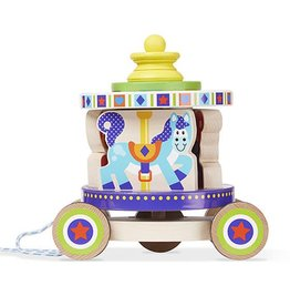 Melissa & Doug Baby First Play Carousel Pull Toy