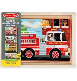 Melissa & Doug Puzzles in a Box - Vehicle