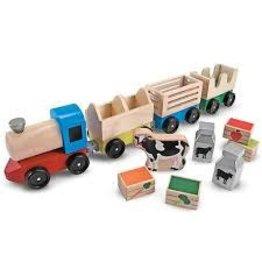 Melissa & Doug Classic Toy Farm Train