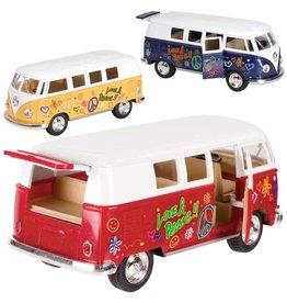 Toysmith Flower Power Pullback VW Bus - Pullback (Colors Vary)