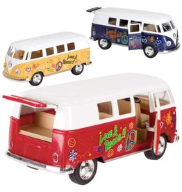 Toysmith Toysmith - Flower Power VW Bus - Pullback, Assorted Colors