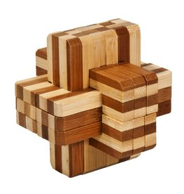 Fridolin IQ Test Bamboo Puzzle - Block Cross #2