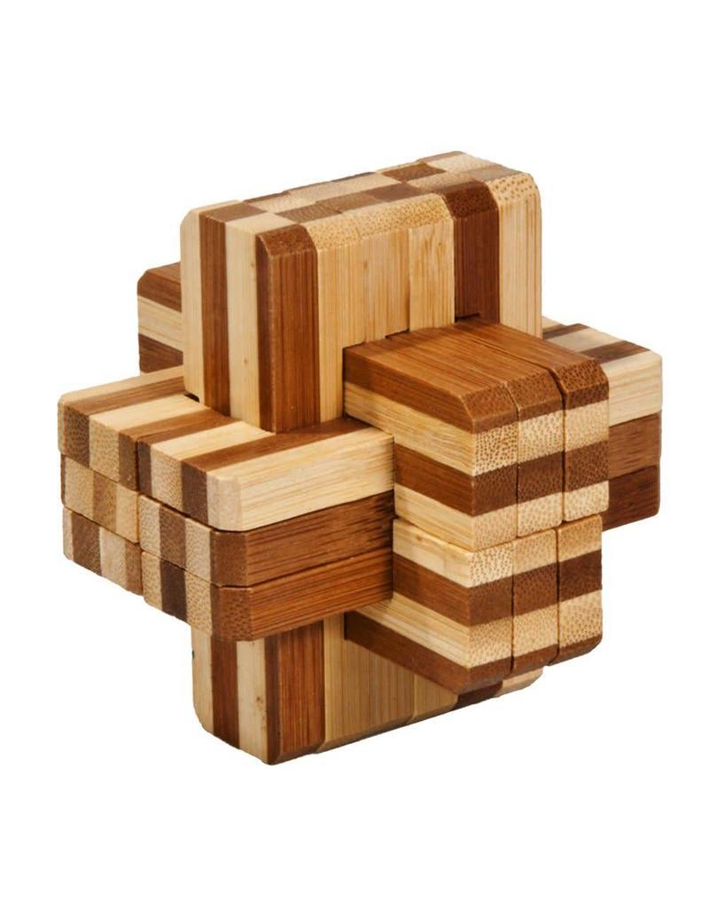 Fridolin IQ Test Bamboo Puzzle - Block Cross #2